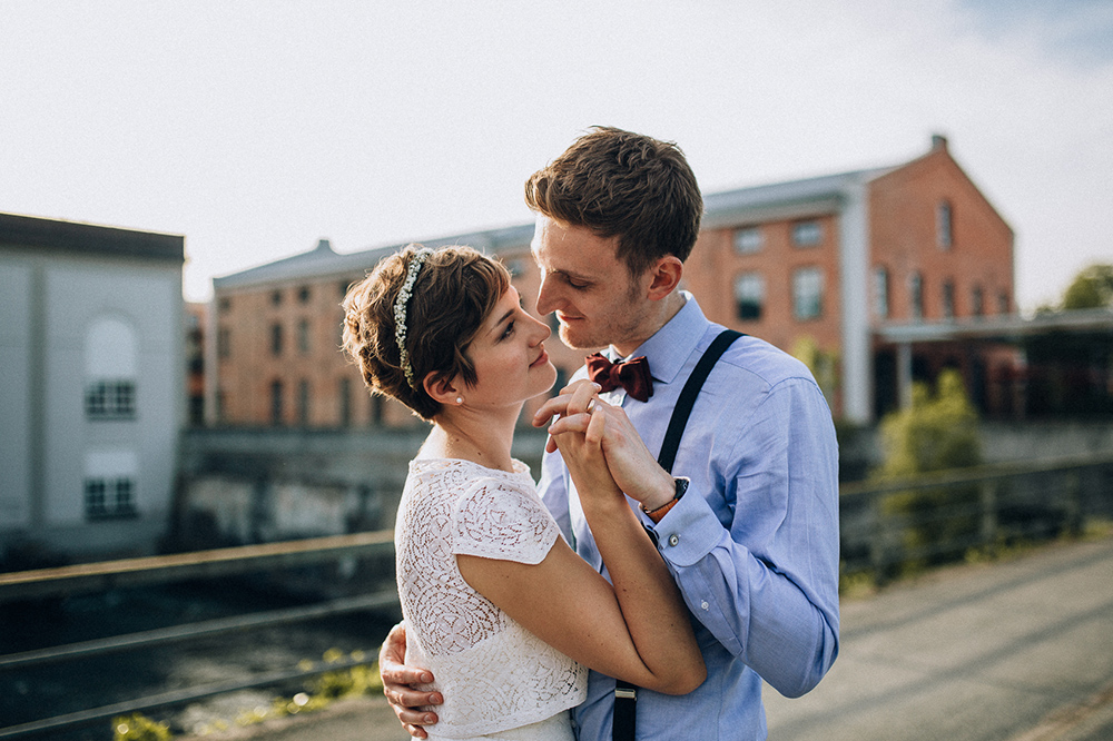 urban wedding at the old spinning mill