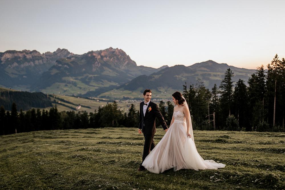 berg hochzeit in der schweiz fotograf