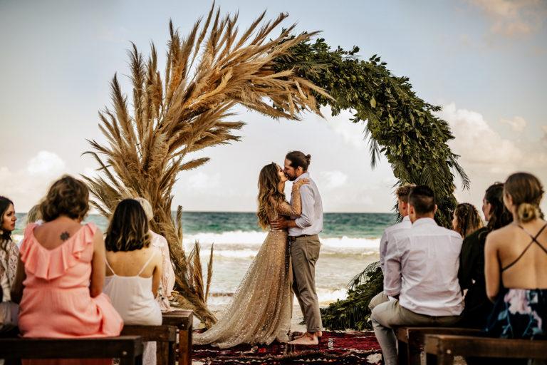 tulum wedding photographer nest mexico beach wedding