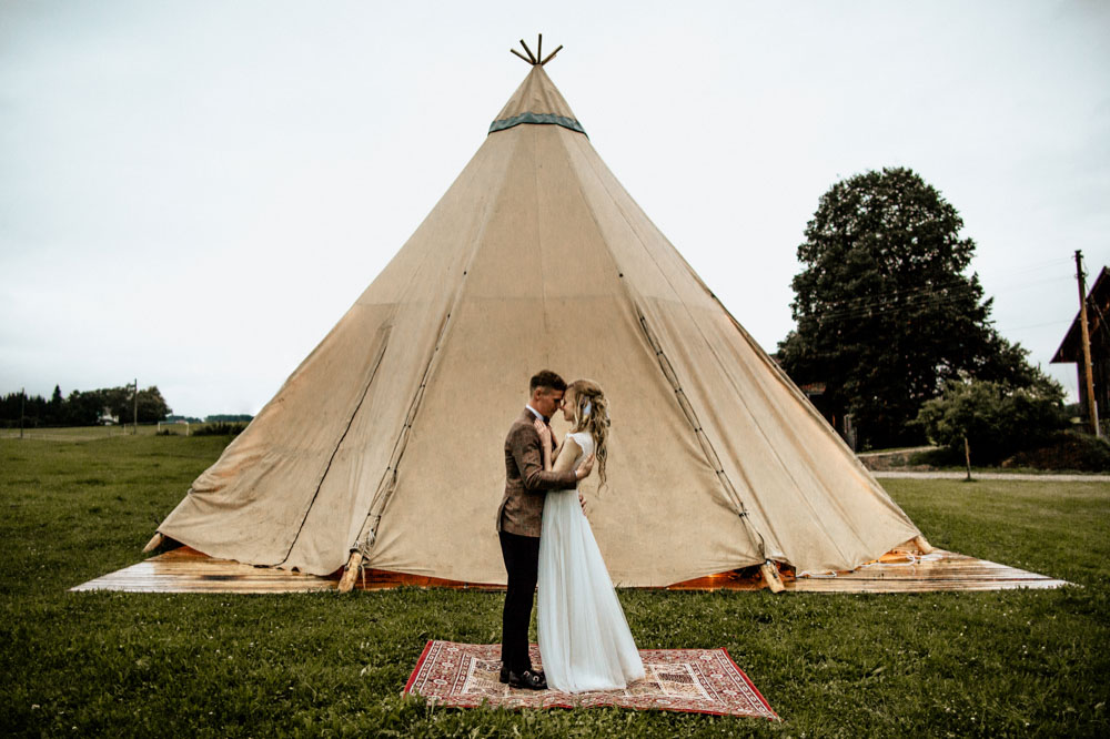 Teepee Wedding Munich Germany Europe Photographer