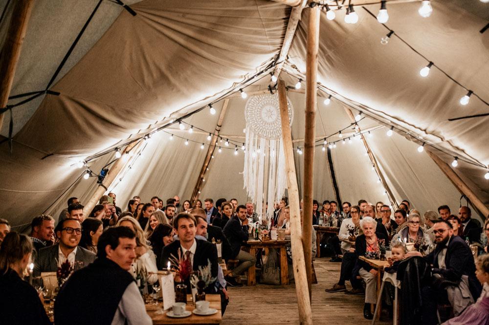 Tipi Hochzeit auf dem Bauernhof rustic, boho, Hippie