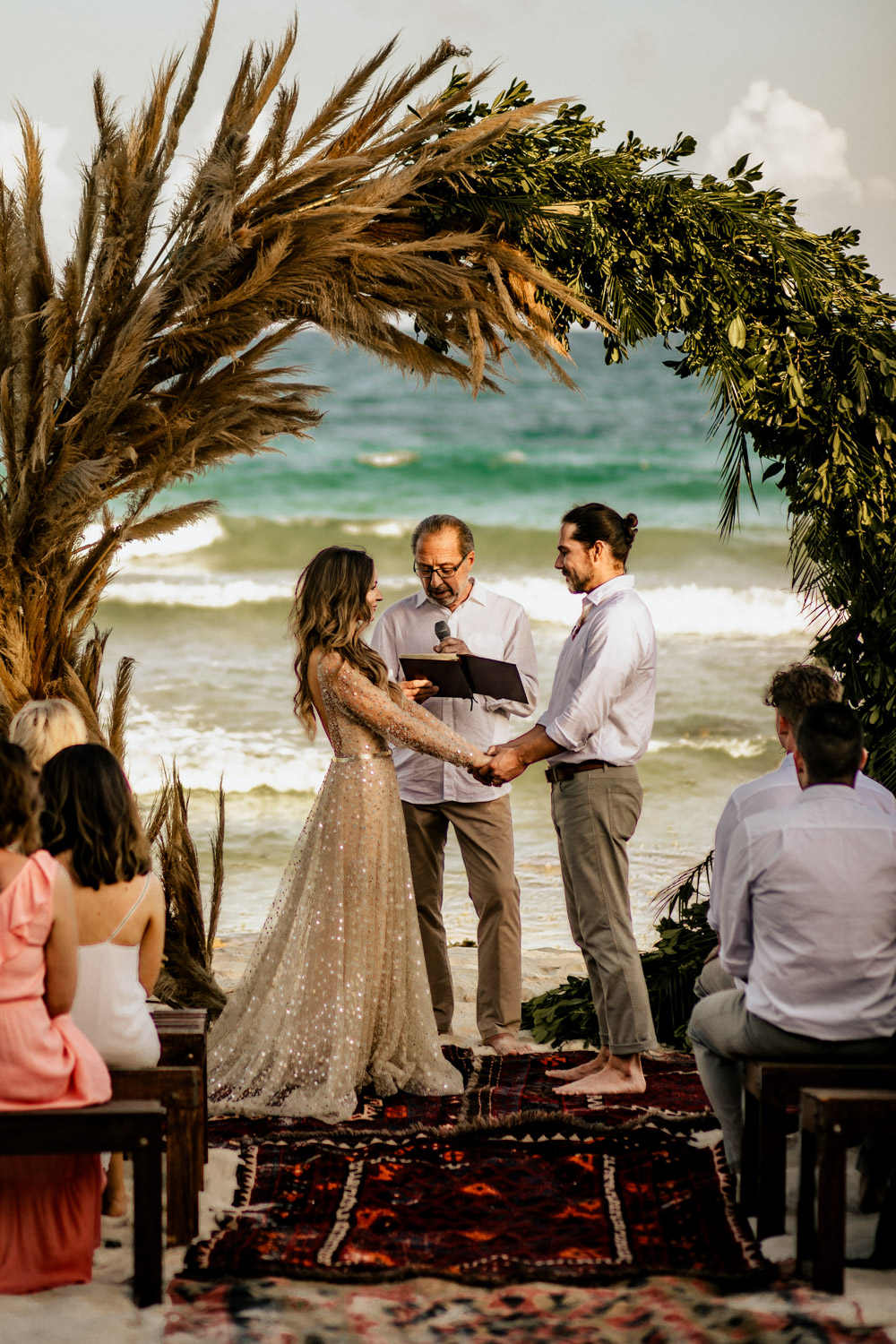 boho beach wedding tulum mexico