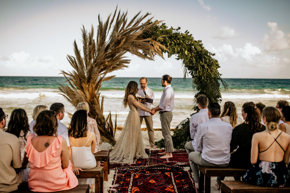 Mexico tulum beach wedding