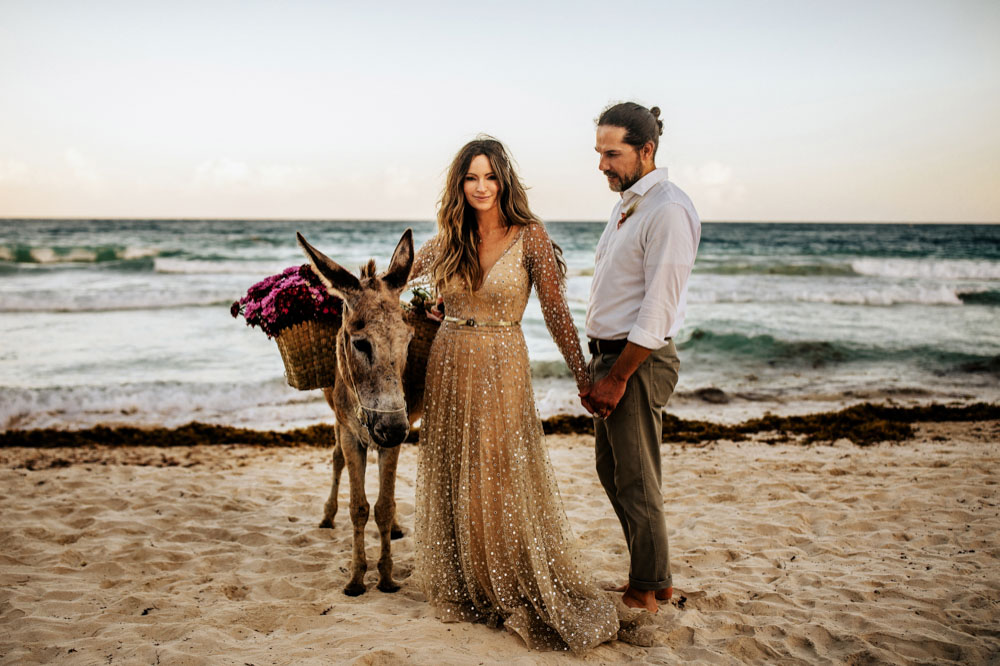 nest tulum beach wedding photographer