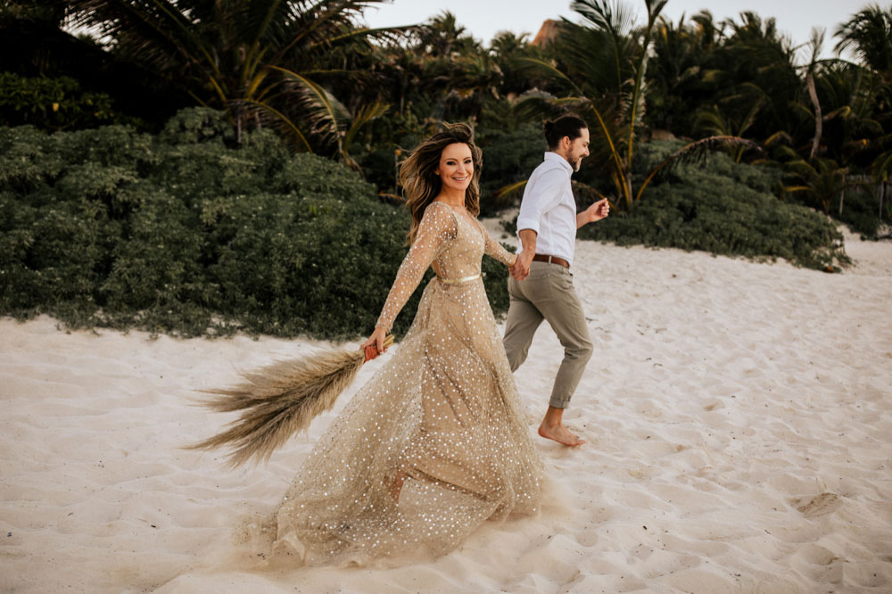 Beach wedding Tulum