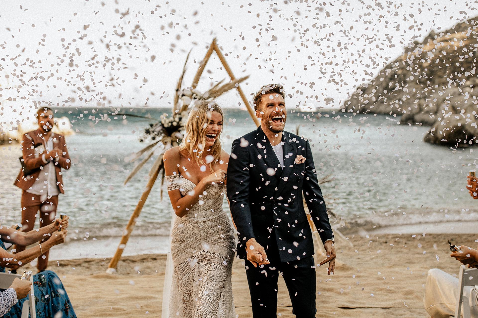 intimate wedding greek island photographer mykonos