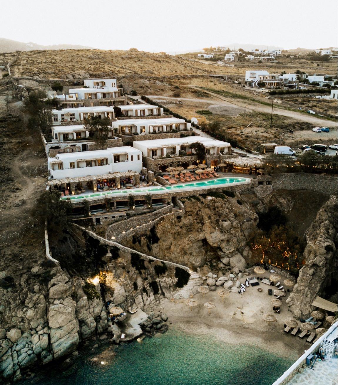 intimate wedding greek island photographer mykonos the wild hotel